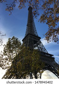 A longer shot of the iconic Eiffel Tower in the French capital of Paris.
