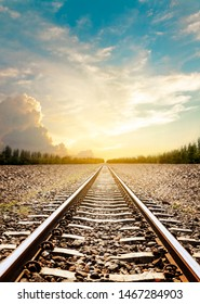 The longest railroad tracks. Trains are a group of vehicles that move along the tracks to transport goods or passengers from one place to another. Most rails usually consist of two parallel rails.