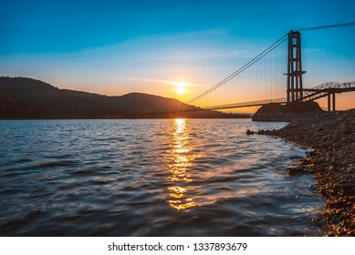 The longest suspension bridge in Bulgaria over Studen Kladenez dam with distance between the two towers of 260m. The only way to reach Lisicite village