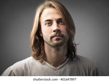 Long-haired man