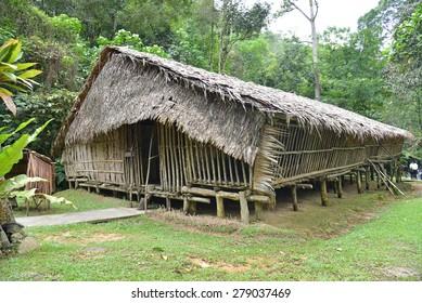 Longhouse In Sarawak, Malaysia