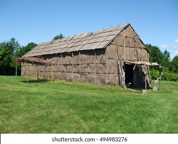 Longhouses of the indigenous peoples of North America