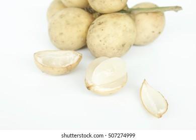 Longkong fruit or Lansium parasiticum.