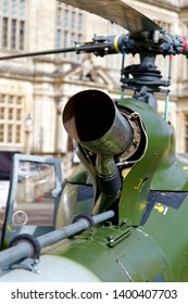 Longleat, Wiltshire / UK - September 30 2017: A British Army Air Corps Westland Gazelle AH.1 Helicopter on display at the Longleat Military Spectacular 2017