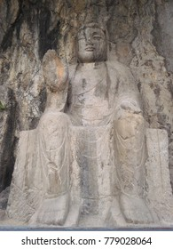 Longmen Dragon gate Grottoes which ancient Chinese Buddha located on the mountain at Luoyang Henan ,China