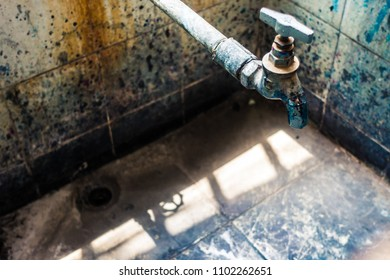 Long-neglected Water Faucet