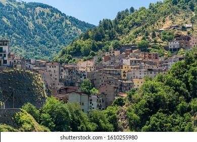 Longobucco, Cosenza, Calabria, Italy: historic village in the Sila natural park at summer