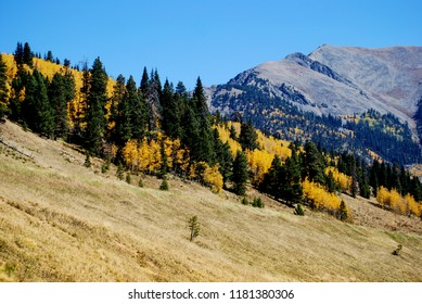 Longs Peak viewed from Estes Park, Colorado during autumn.
