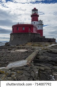 Longstone Lighthouse on the Outer Farne Island. Off the coast of Northumberland. England. UK.