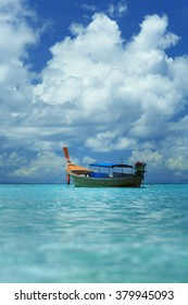 A longtail boat at Koh Lipe island, Thailand