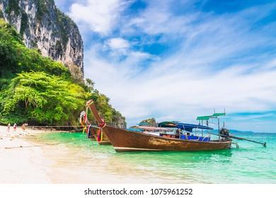 NEW POSTER Krabi Beach Thailand Travel Beach Ocean Boats Vacation Paradise