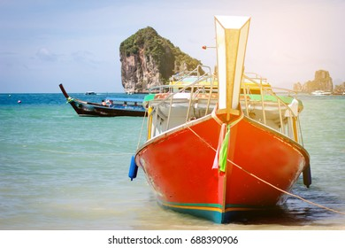 Longtail boat tour the Andaman Sea of Thailand