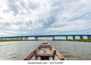 Longtail boat trip for sightseeing around Thale noi, Phatthalung, Thailand