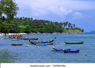 Longtail boats at Rawai beach on Phuket island