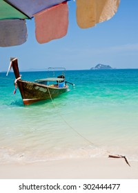 Longtale boat at the beach phuket, Thailand