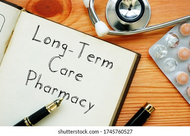 Long-Term Care Pharmacy is shown on the conceptual business photo