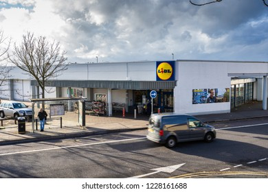 Longton, Stoke on Trent, Staffordshire - 12th November 2018 - The Lidl store on Longton High street, German bargain superstore