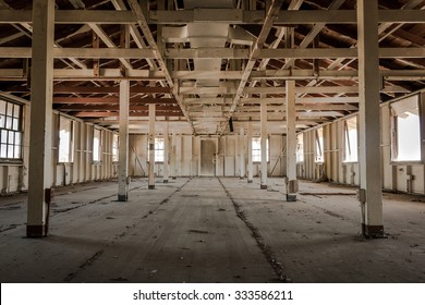 A long-vacated room in a derelict building