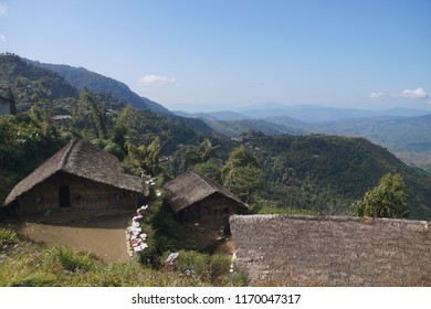 Longwa Village, Mon, Nagaland: one village, one identity but two nationalities. Largest village of Konyak tribe, very famous for their violent head hunting with their tattooed inked faces.