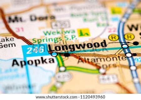 Longwood Florida Map.Longwood Florida Usa On Map Stock Photo Edit Now 1120493960