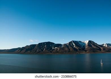 Longyearbyen bay Svalbard