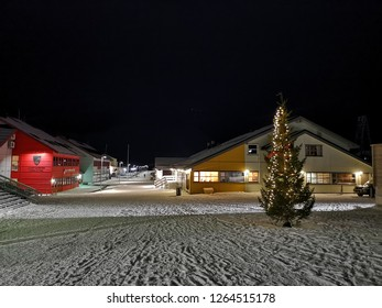 Longyearbyen, Svalbard - December 21,2018 Christmas season