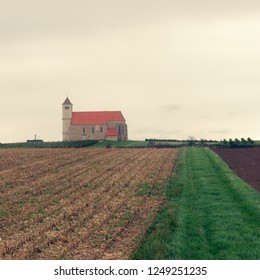 lonley church in austrian landscape