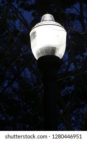 a lonly street lamp