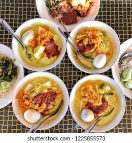 Lontong Rice Cubes in rich and creamy Coconut milk
