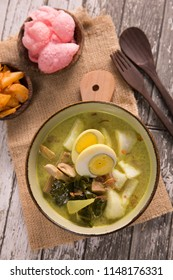 lontong sayur. indonesian rice cake with soup
