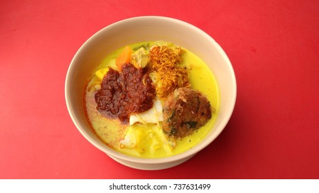 Lontong, a traditional food in Malaysia and Indonesia