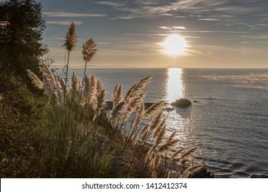 Looe Beach at sunrise Cornwall UK