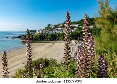 LooeCornwallEnglandJuly 12, 2018View of the beach of East Looe