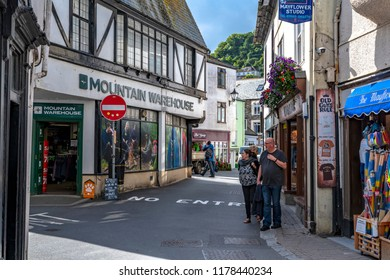 LOOE, Cornwall, England, UK - September 10 2018: Looe a very popular Beach Holiday Resort full of Hotels, Attractions, and Restaurants.