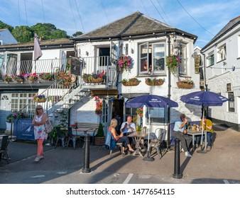 Looe, Cornwall, UK - 12/07/19. The Old Sail Loft Retaurant in Looe.