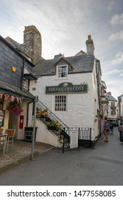Looe, Cornwall, UK - 12/07/19. The Smugglers Cott Restaurant in Looe.