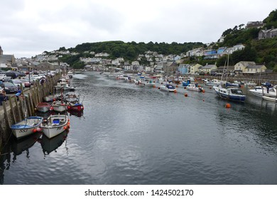 Looe the famous Cornish fishing village popular with tourists