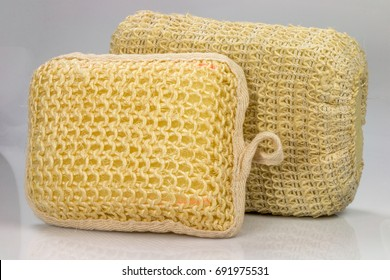 Natural Loofah Sponge Body Scrub Pads Images Stock Photos