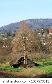 Look about the recreation area, the public fruit property Baden-Baden Lichtental to the Battert rocks with the ruin old castle Hohenbaden