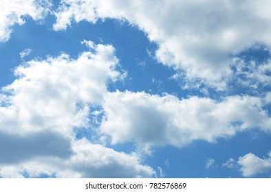 Look up to the blue sky with the cloudy summer sky.