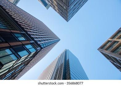 look up buildings,tokyo,japan