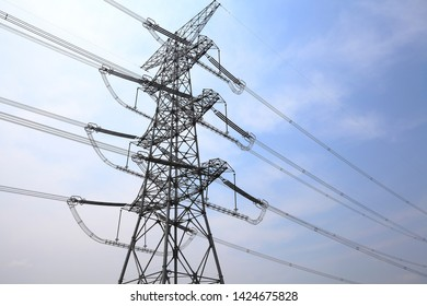 Look up High voltage of powertransmission towers