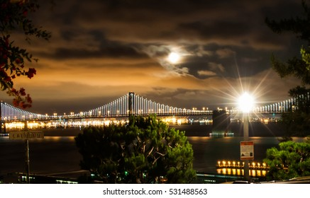 Look from the hill at sparkling San Francisco at night