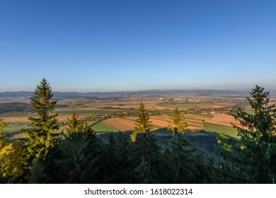 Look into the landscape, Hvezda, Broumovske steny, Adrspach rocks, Czech republic  - Shutterstock ID 1618022314