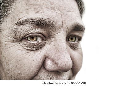 look of a old woman