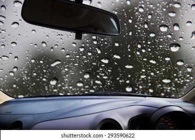 Rain On Windshield Images, Stock Photos & Vectors ...