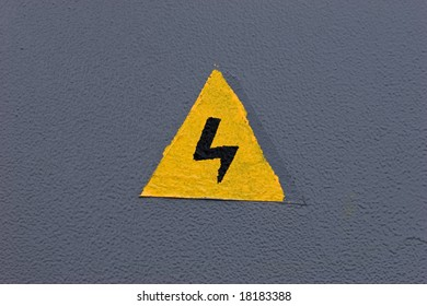 look out! danger, sign of electric current
