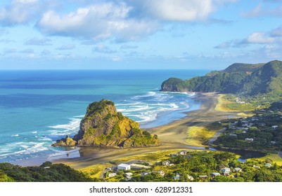 Look Out to Lion Rock Piha Beach Auckland New Zealand