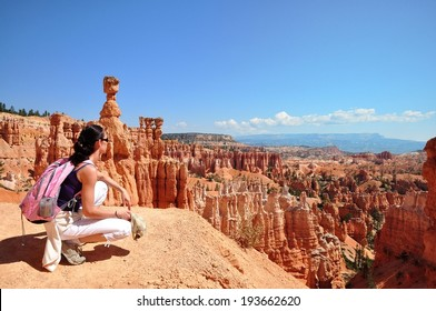 Look out on the Bryce Canyon