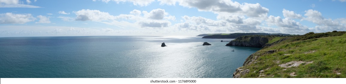 look out point at berry head, torbay, united kingdom